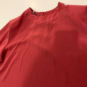Vintage Laura Winston Rose Satin Blouse